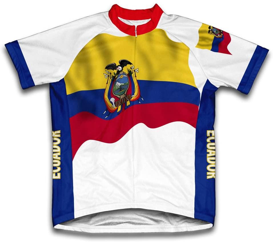 Ecuador Flag Short Sleeve Cycling Jersey for Men