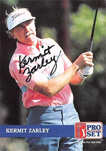 Kermit Zarley autographed golf card (PGA Tour, Houston Cougars, SC) 1992 Pro Set #259 - Autographed Golf Equipment