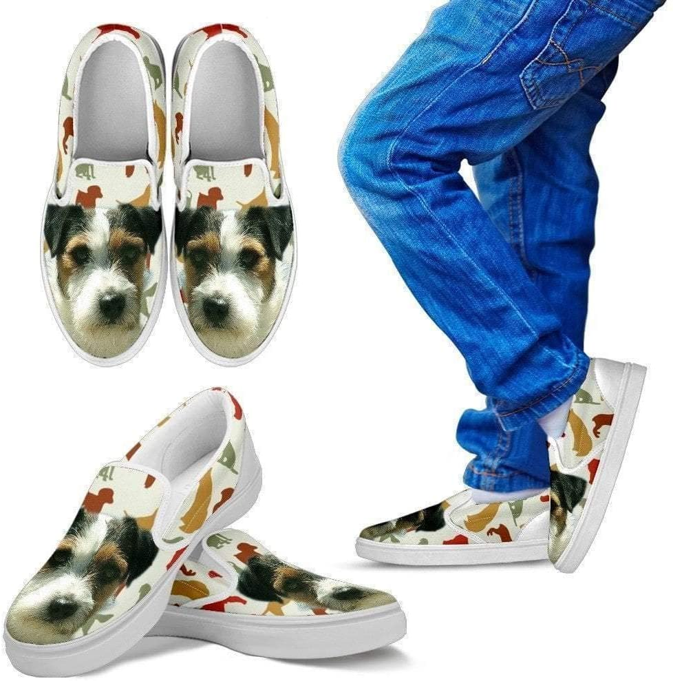 Paws With Attitude Parson Russell Terrier Slip Ons for Kids- Express Shipping