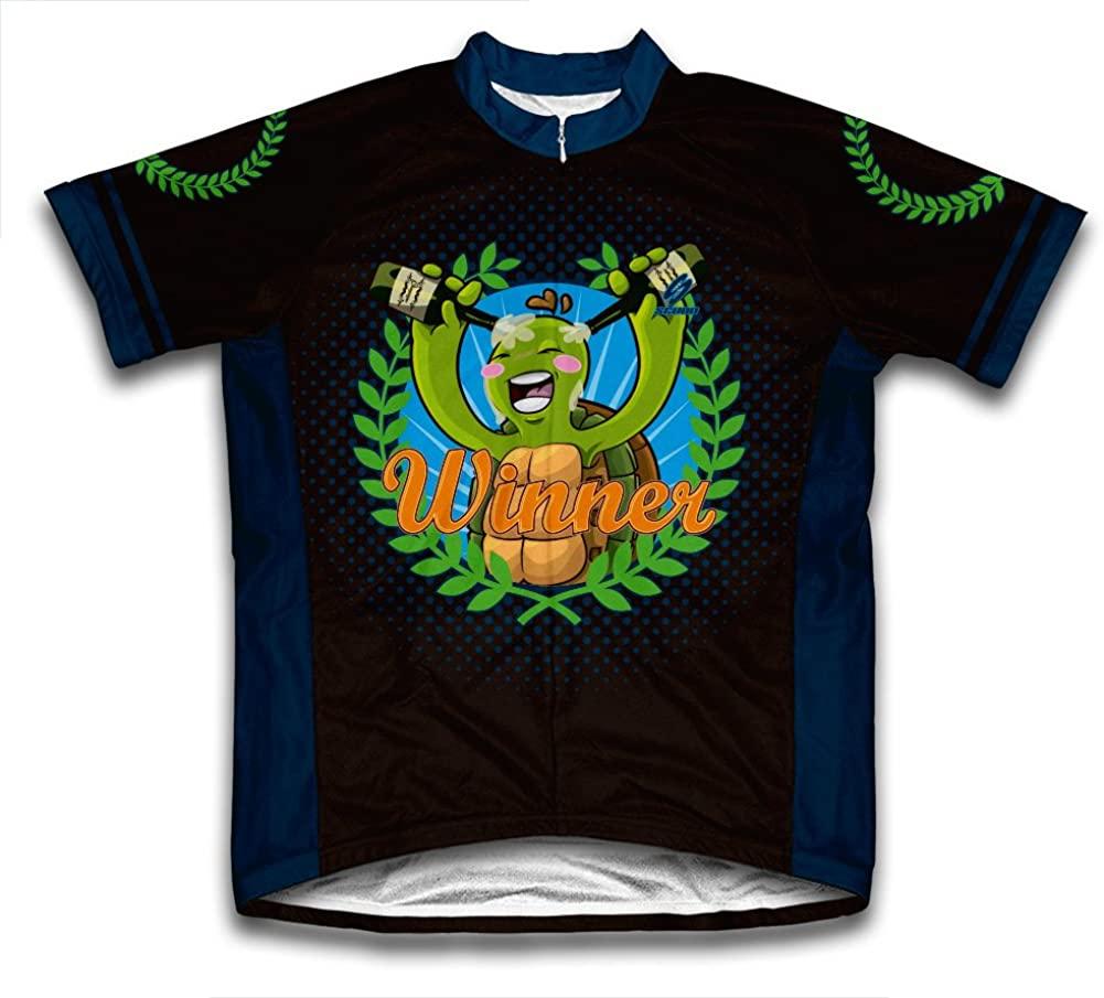 ScudoPro Turtle Winner Short Sleeve Cycling Jersey for Men - Size 4XL