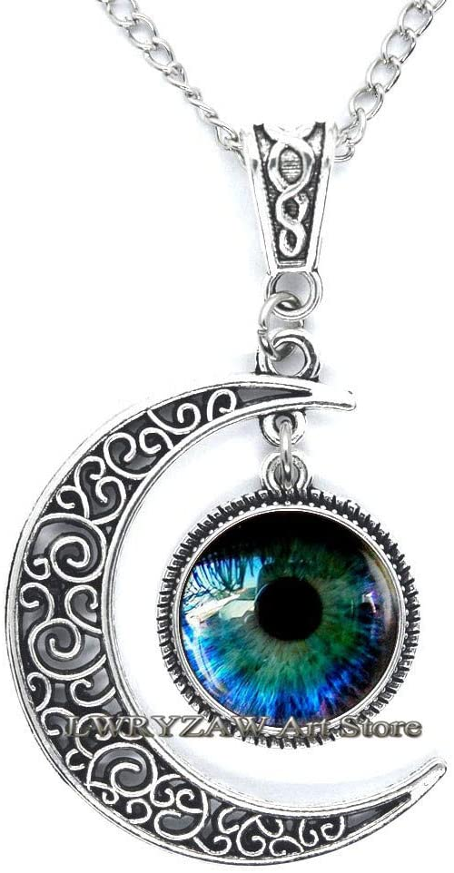 Eye Necklace, Eye Jewelry Glass Pendant, Realistic Human Eyeball, Eye Steampunk Gothic Eye Charm, Anatomy Jewelry,M73