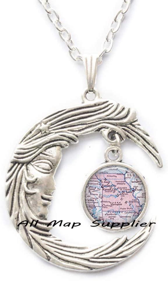 AllMapsupplier Fashion Necklace Missouri map Pendant,Missouri map Necklace,Missouri Necklace Missouri Pendant State map Jewelry,A0090