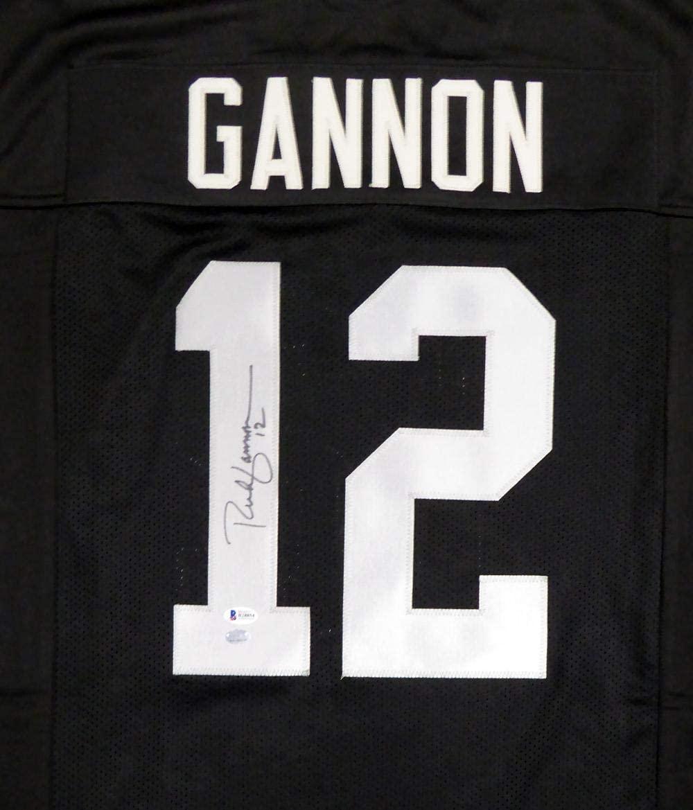Rich Gannon Autographed Jersey - Black Beckett Bas Stock #114995 - Beckett Authentication - Autographed NFL Jerseys