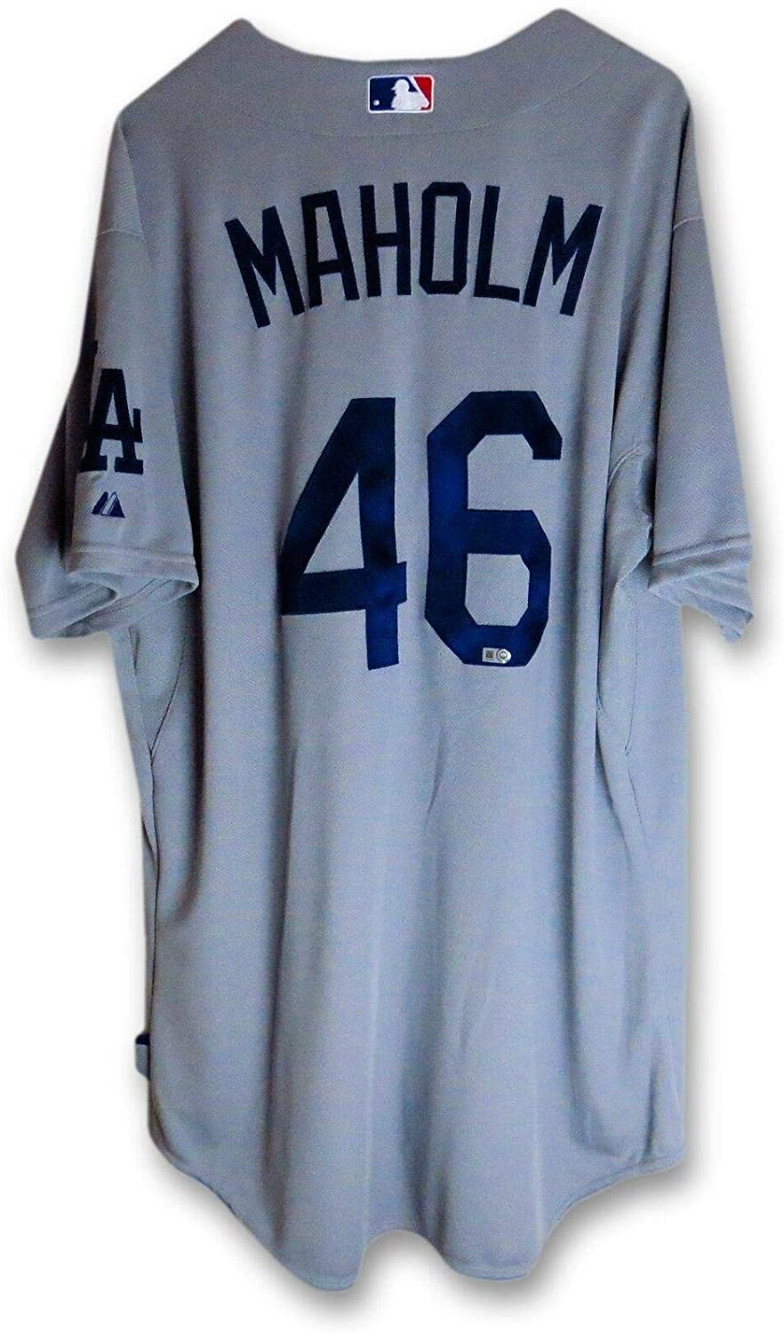 Paul Maholm Team Issued Jersey Los Angeles Dodgers 2014 Road Gray #46 MLB Holo - MLB Game Used Jerseys