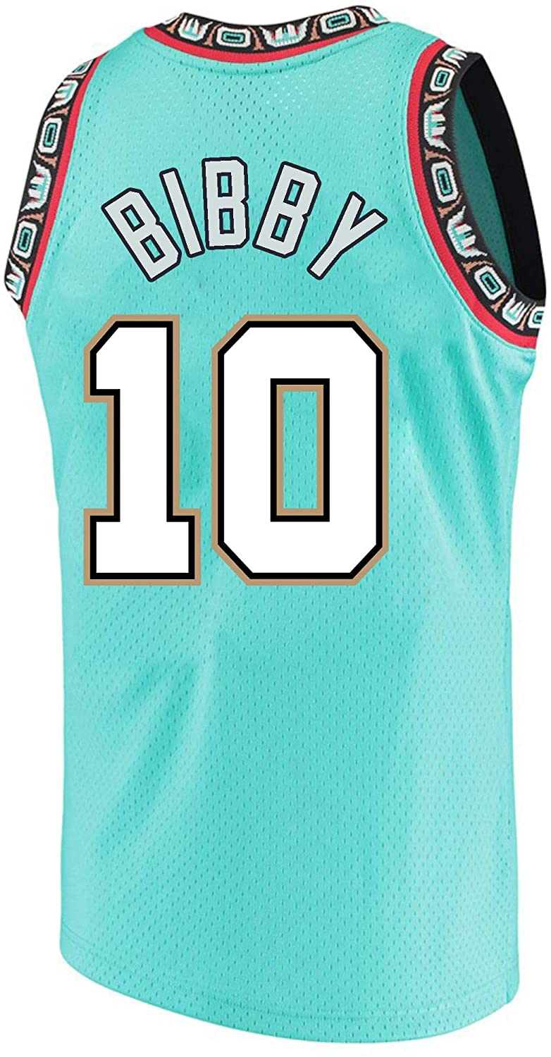 Haeyev Men's Bibby Retro Jerseys Green Athletics Jersey Basketball #10 Jersey(S-XXL)