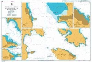 UKHO BA Chart 1683: Plans on The South and East Coasts of Peloponnisos