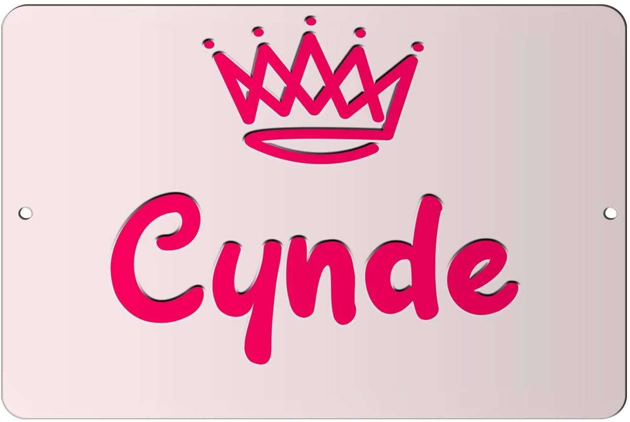 Makoroni - Cynde Girl Female Name 12x18 inc Aluminum Decorative Wall Street Sign