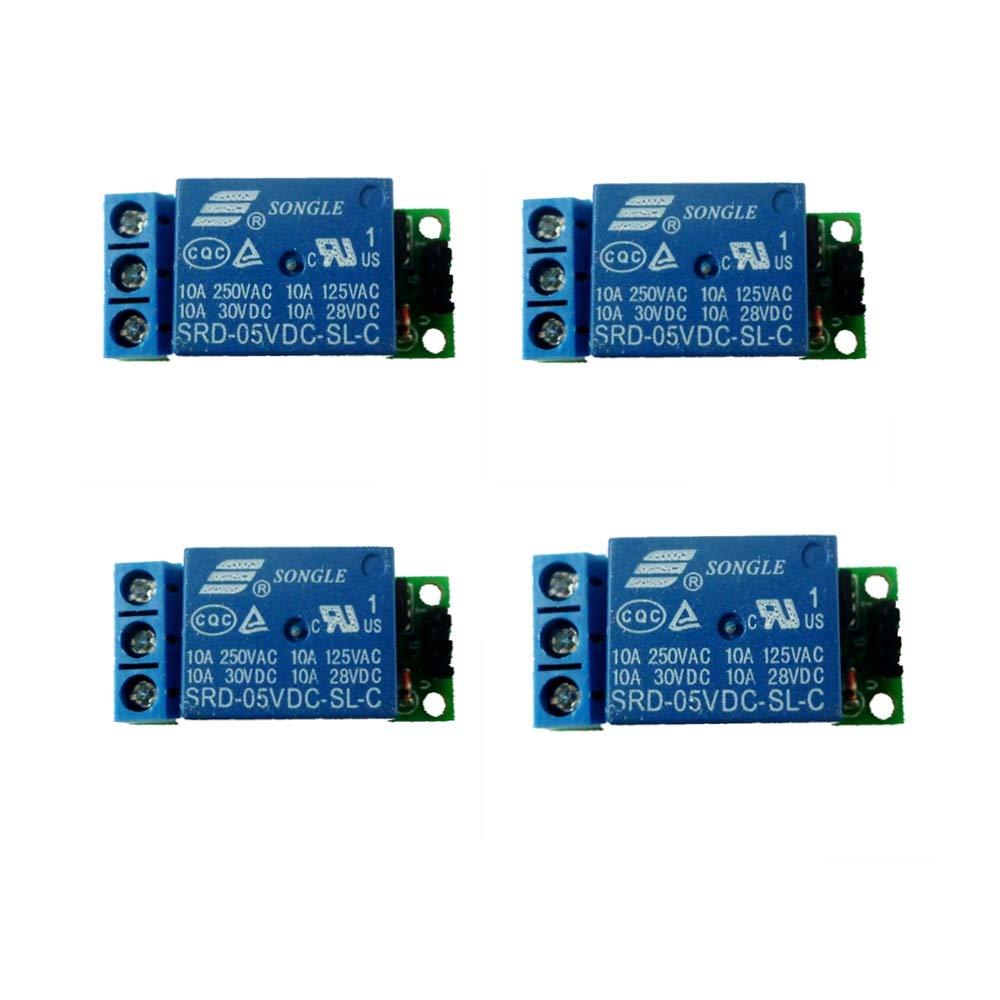 Eletechsup 5V 1 CH 4 CH Latch Relay Module Flip-Flop Bistable Self-Locking Trigger Switch Board (DC 5V 1channel, 10) (DC 5V 1 Channel, 4)