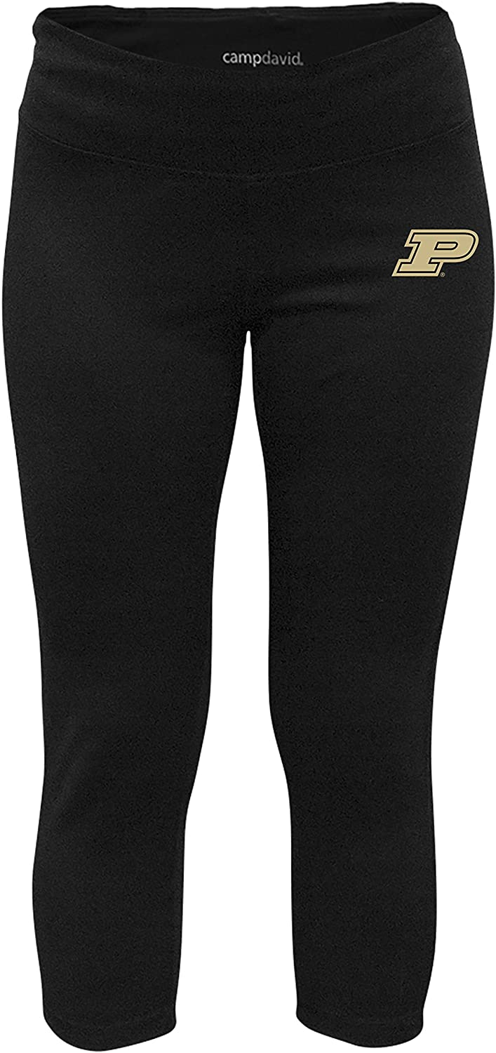 NCAA Crosstown Women's Cropped Active Lifestyle Pant, Purdue Boilermakers, Black, Large