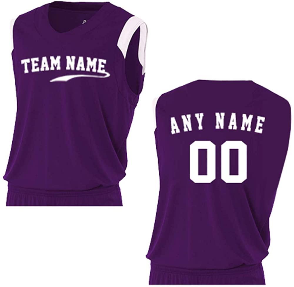 A4 Sportswear Purple/White Adult 2X (Custom) Muscle Tank