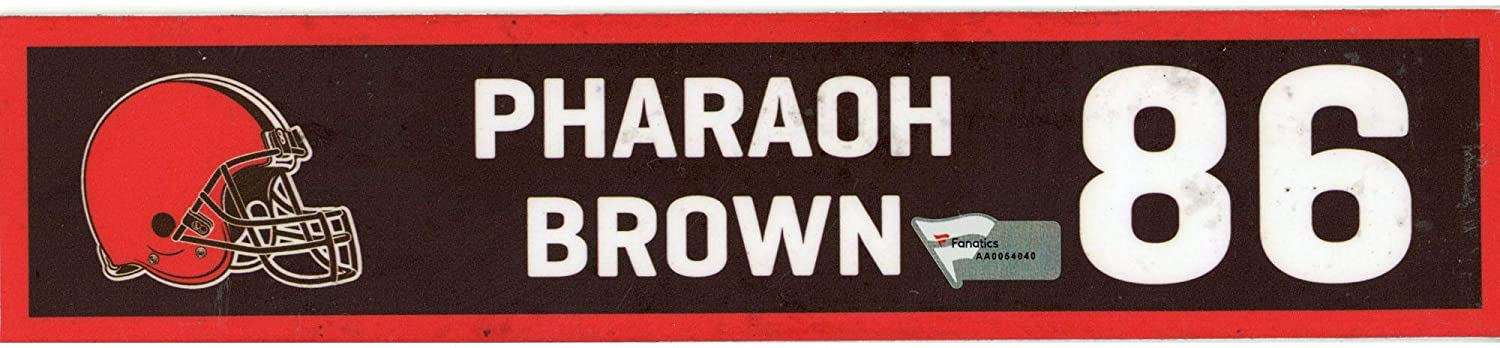 Pharaoh Brown Cleveland Browns Player-Issued #86 Brown Nameplate from the 2019-20 NFL Season - Fanatics Authentic Certified