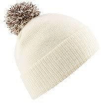 Beechfield B450 Snowstar Duo Beanie Hat Off White/Mocha