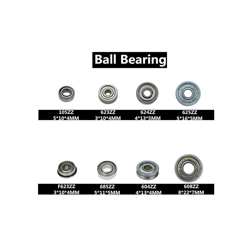 Rodamientos Axk 2pcs Zinc Alloy Diameter 8mm 10mm 12mm Bore Ball Bearing Pillow Block Mounted Support Kp08 Kp000 Kp001 KP003,KP001