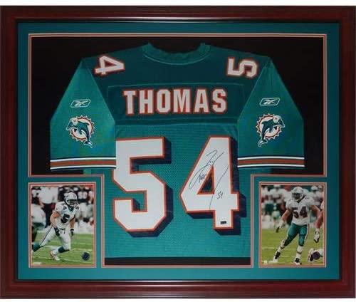 Zach Thomas Signed Jersey - Teal #54 - Autographed NFL Jerseys