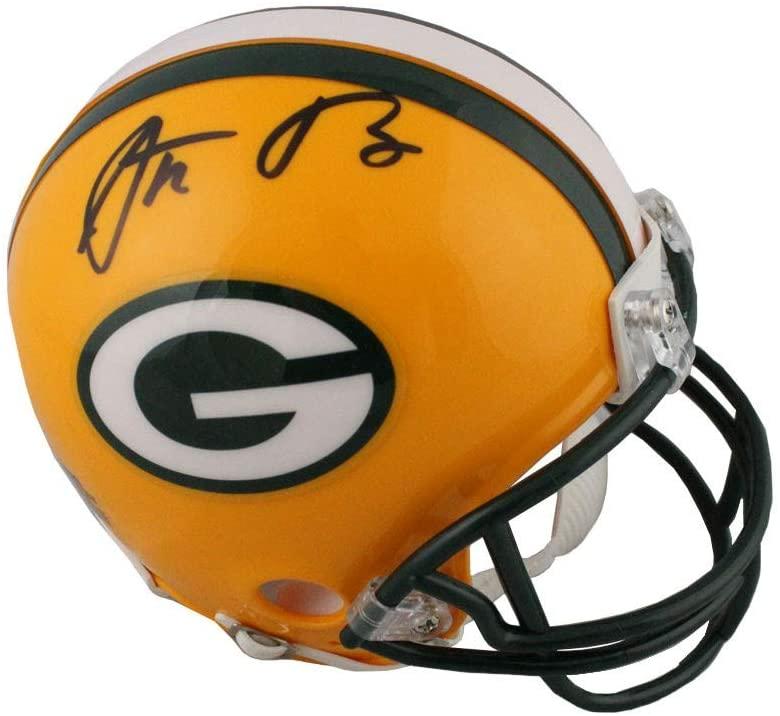 Aaron Rodgers Autographed Green Bay Packers Mini Football Helmet - Fanatics