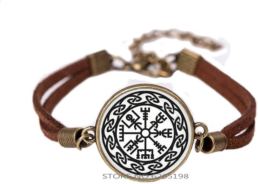 Compass Bracelet Symbol Rune Amulet Collier Bangle Glass Cabochon Men Women Rune Jewelry,Minimalist Bracelet,Dainty Bracelet,N237