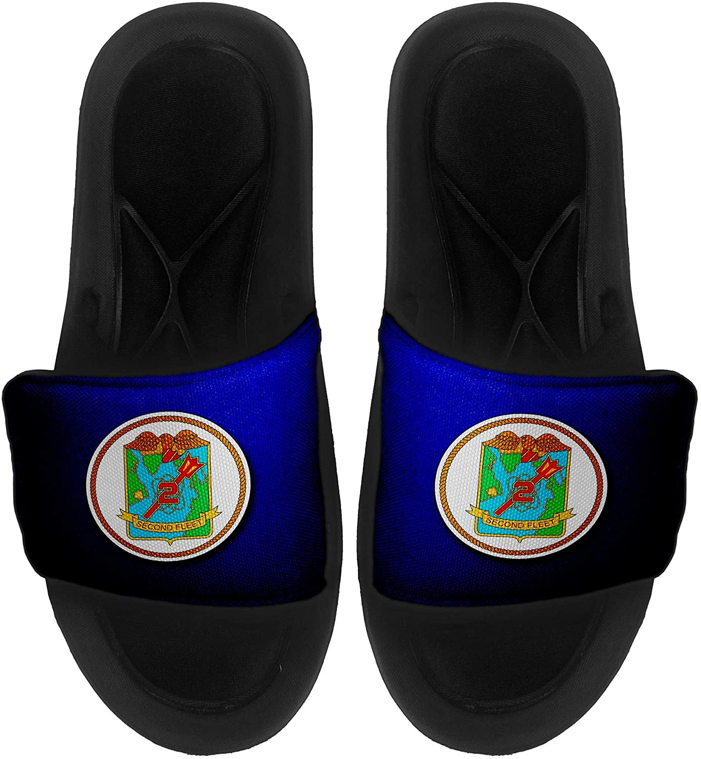 ExpressItBest Cushioned Slide-On Sandals/Slides for Men, Women and Youth - US Naval Forces Southern Command (USNAVSO)