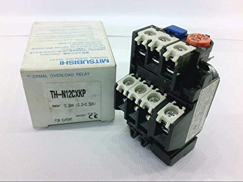 MITSUBISHI TH-N12CXKP-0.2A Thermal Overload Relay .2AMP Trip .2-.32AMP RNG 3P