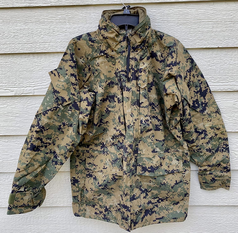 Us Marines Gen II Apecs Gore Tex Digital Marpat Cold Weather Parka - Small Regular