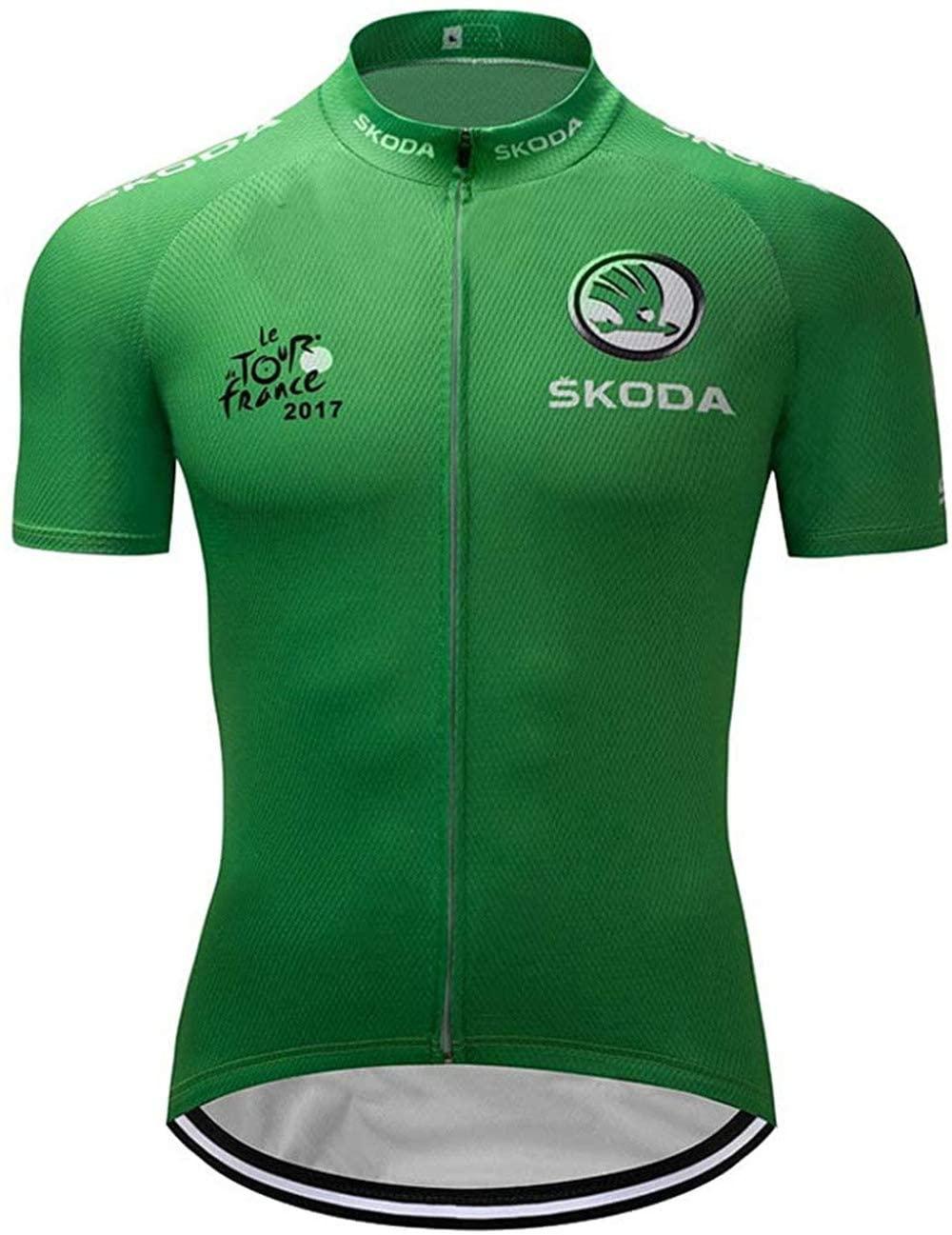Via Inc. Cycling Jerseys Men's Bicycle Jersey Summer Breathable Jersey Bike Biking Shirt O005