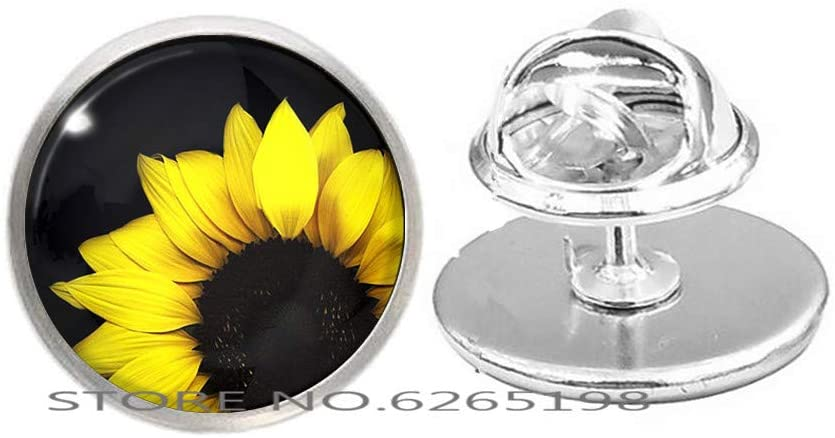 Sunflower Brooch, Spring Flowers Pin,Sun Flower Gift Sunflower Brooch Gift, Sunflowers. Sunflower Gifts,N258