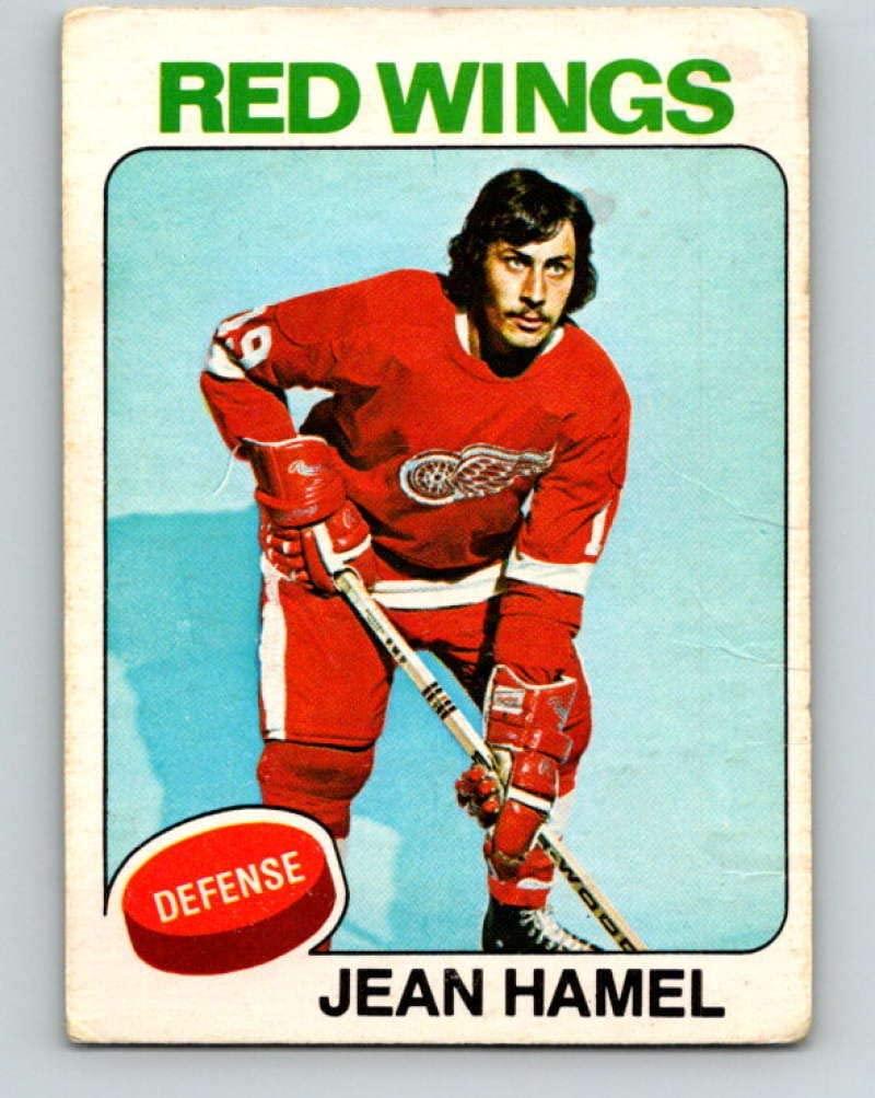1975-76 O-Pee-Chee #257 Jean Hamel Hockey NHL Red Wings