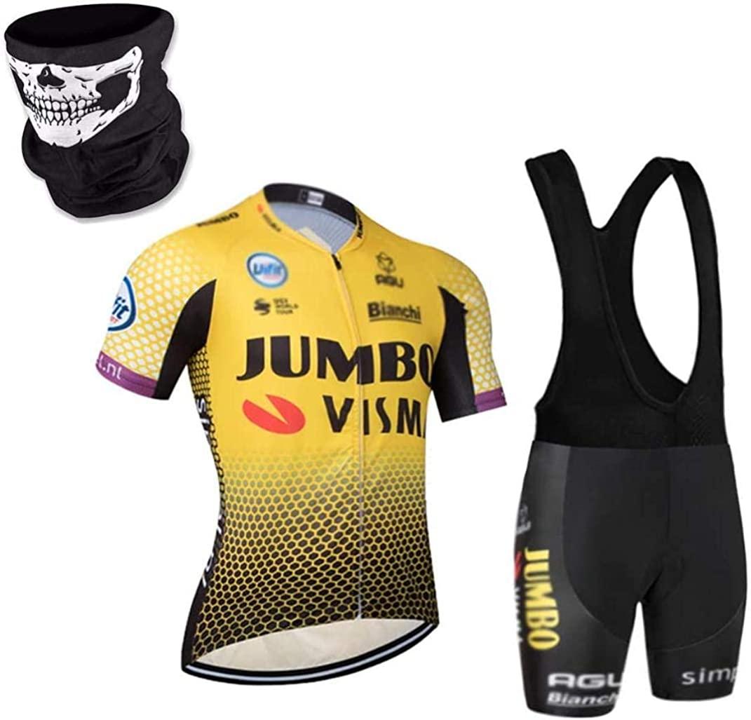 DIMPLEYA Cycling Jersey +Cycling Bib Shorts Gel Padded Shorts Men's Breathable Suits