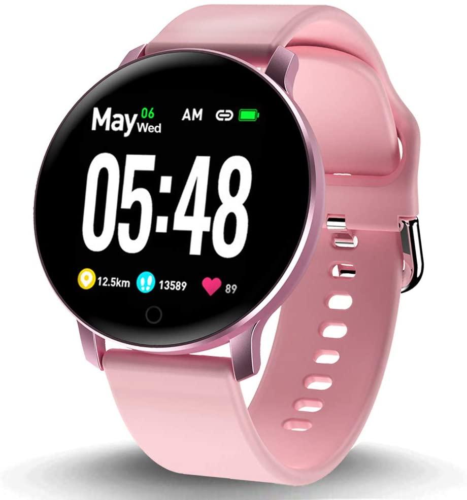 Smart Watch for Women Men IP67 Waterproof Fitness Tracker with Heart Rate Blood Pressure Sleep Monitor Pedometer 1.3
