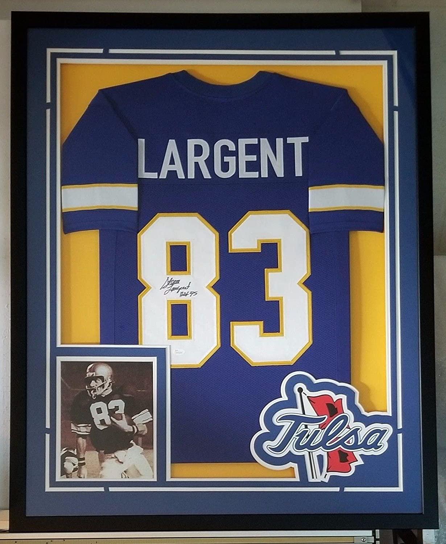 Steve Largent Autographed Jersey - Framed - JSA Certified - Autographed College Jerseys