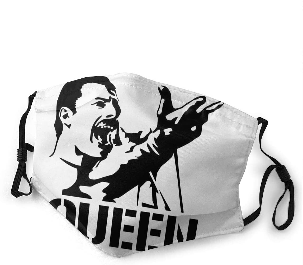 Queen Freddie Mercury Dust with Filter is Soft and Breathable You Can Change Its Length According to Your Facial Contour