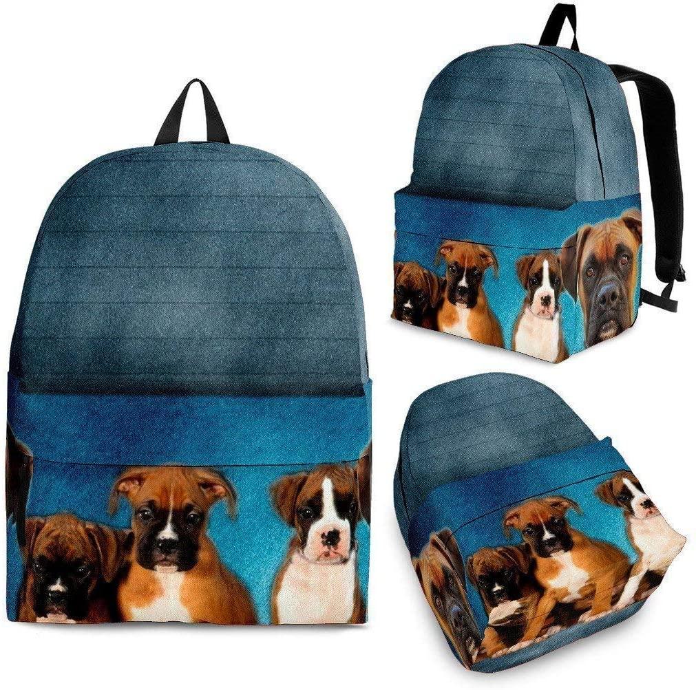 Boxer Dog Print Backpack