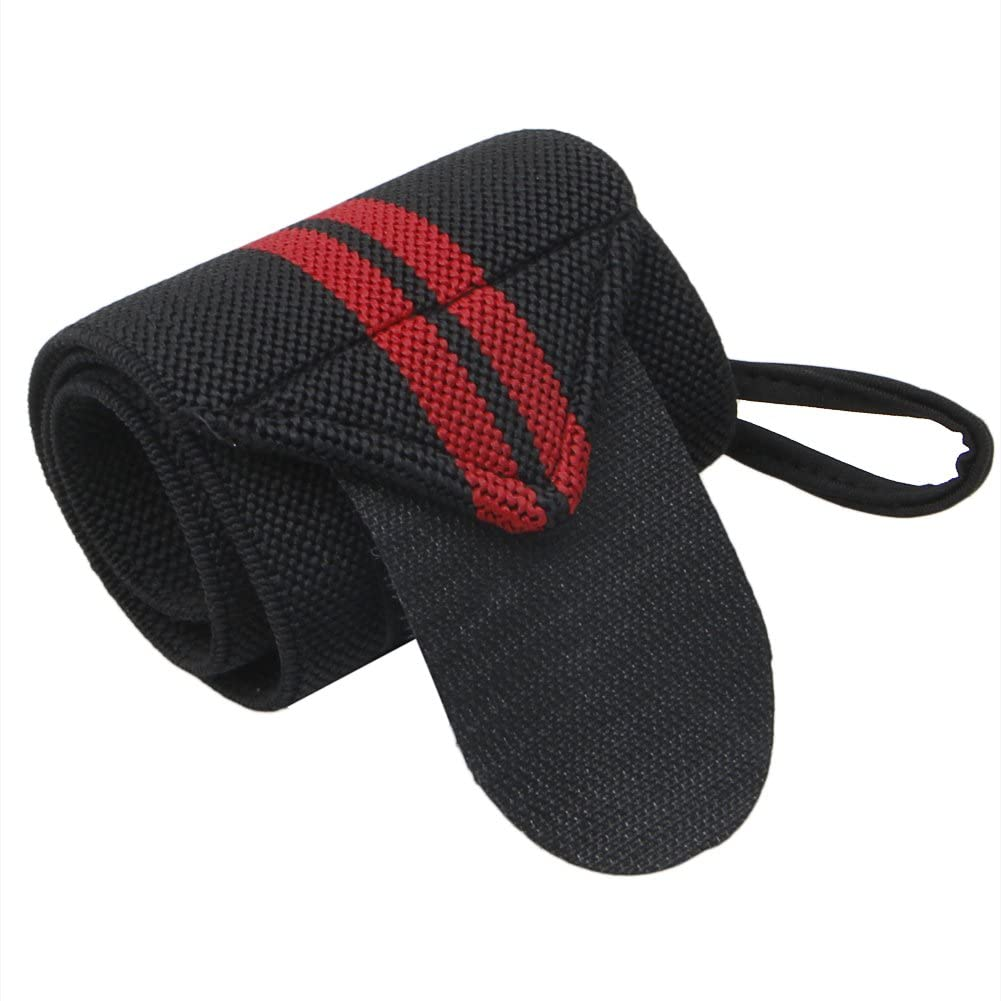 Julyshop Adjustable Wrist Wrap with Thumb Loops for Men & Women - Weight Lifting, Crossfit, Powerlifting, Strength Training