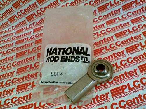 NATIONAL ROD END SSF4 Rod END Bearing Male SS 1/2 Ball Dia