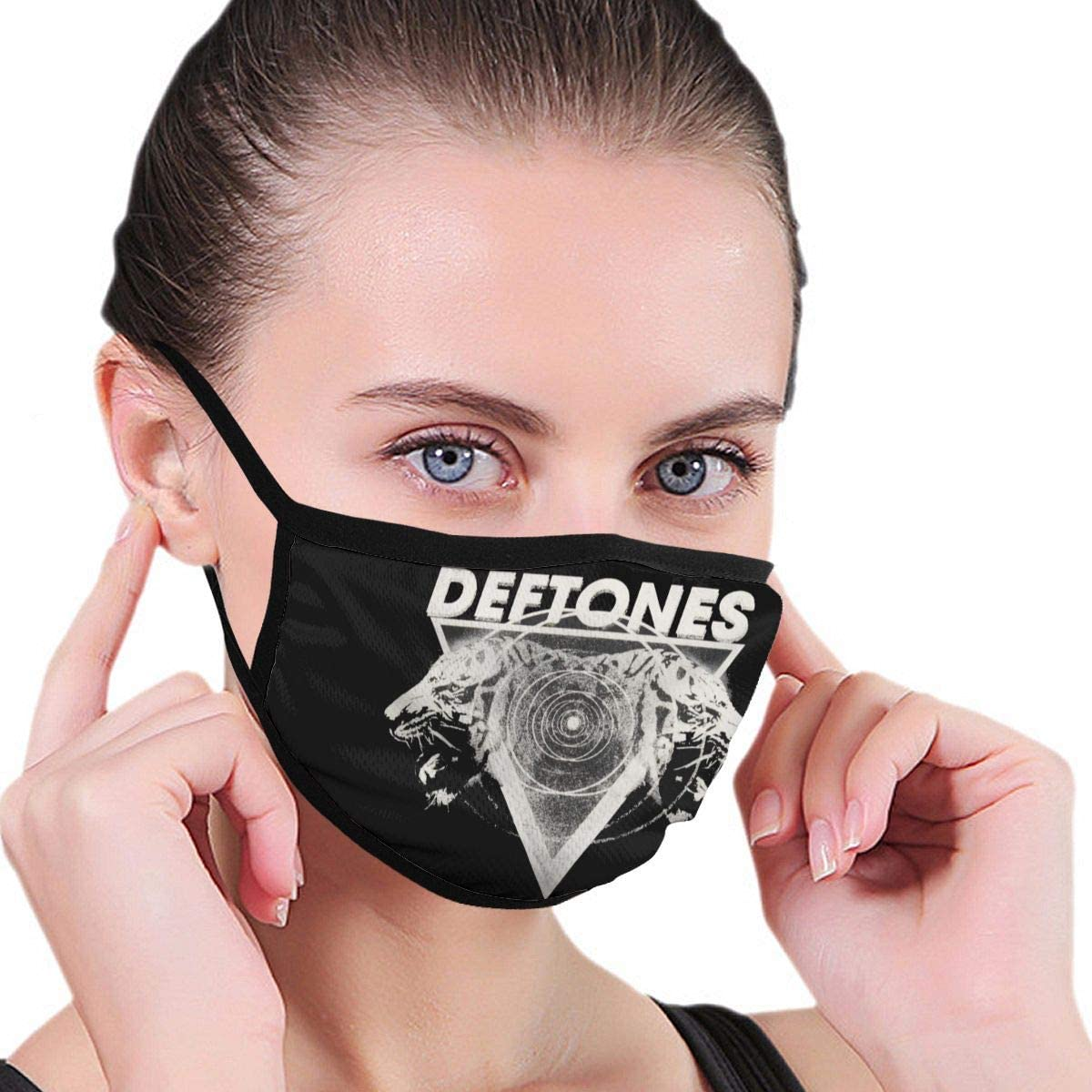Qwertyi Deftones Hypno Tiger 2012 Tour Face Cover Fashion Anti- Face Mouth Cover Windproof Adjustable Washable Cover for Outdoor Sports