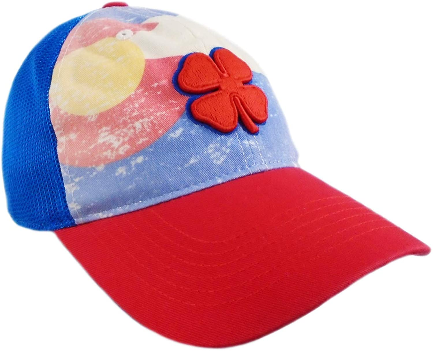 Black Clover New Vintage BC Colorado Blue/Red/Yellow Fitted S/M Golf Hat/Cap