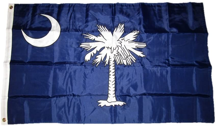 AES 3x5 Embroidered State of South Carolina SC Double Sided 2ply Nylon Flag 3'x5'