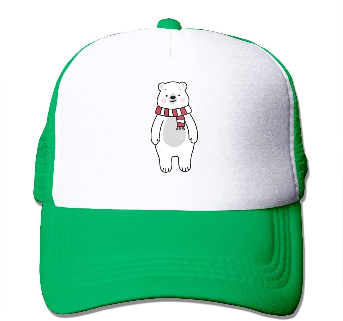 Adult Trucker Hat Cute Polar Bear Custom Mesh Caps
