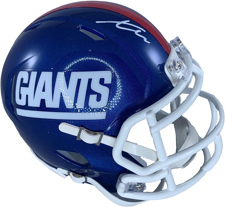 Xavier Mckinney autographed signed mini helmet NFL New York Giants JSA COA
