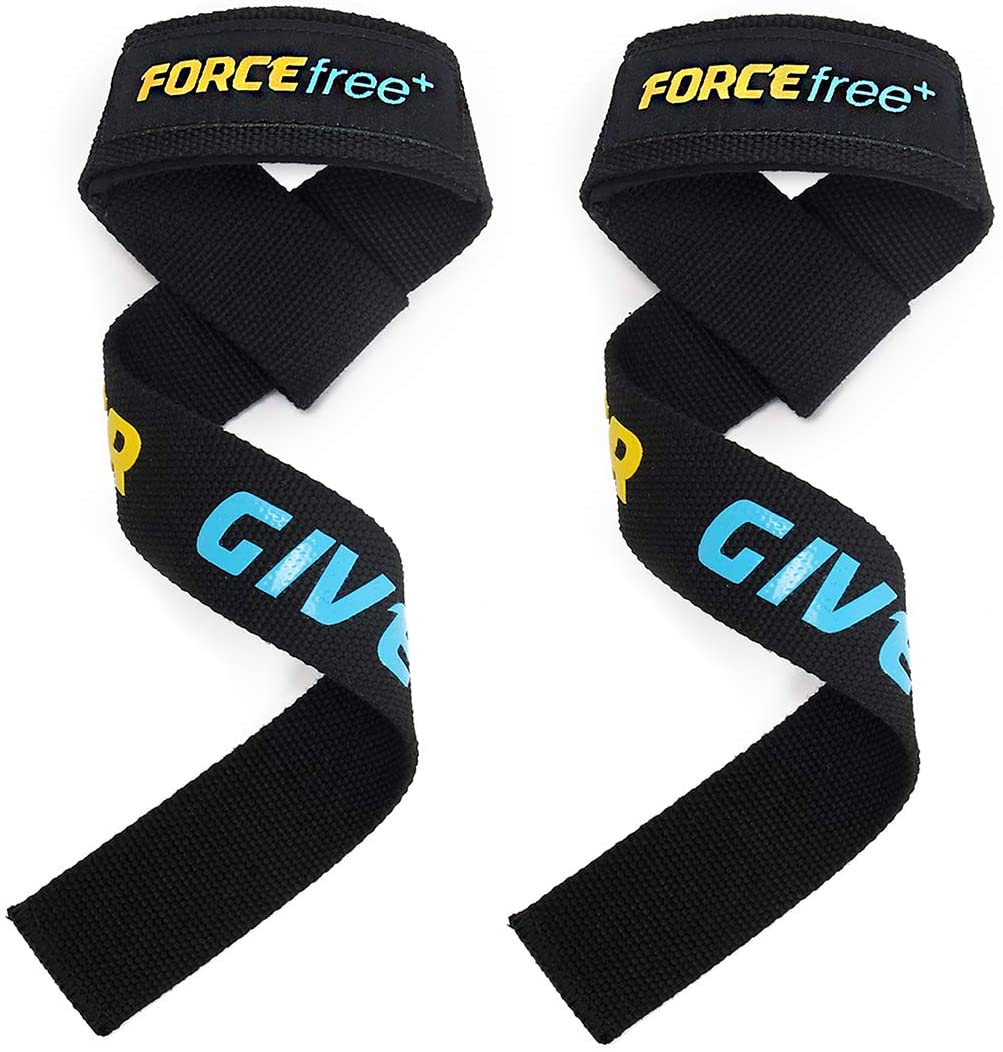 Forcefree+ Lifting Straps Padded Cotton Wrist Protector for Weightlifting, Strength Training, Powerlifting, Bodybuilding, Gym Workout-Suitable for Men & Women