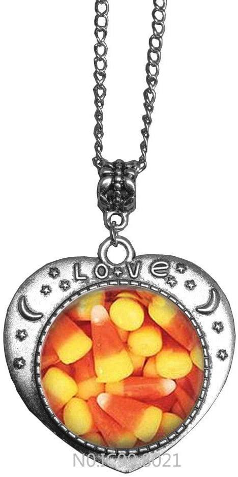 maoqunza Candy Corn Halloween Necklace - Handmade-Fall Jewelry -RG44