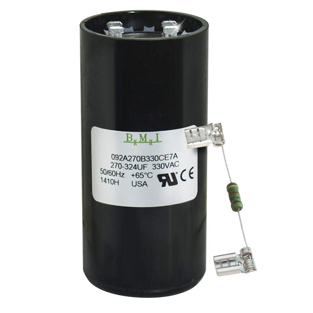270-324 uF x 330 VAC - BMI/USA Start Capacitor # 092A270B330CE7A with Bleed Resistor