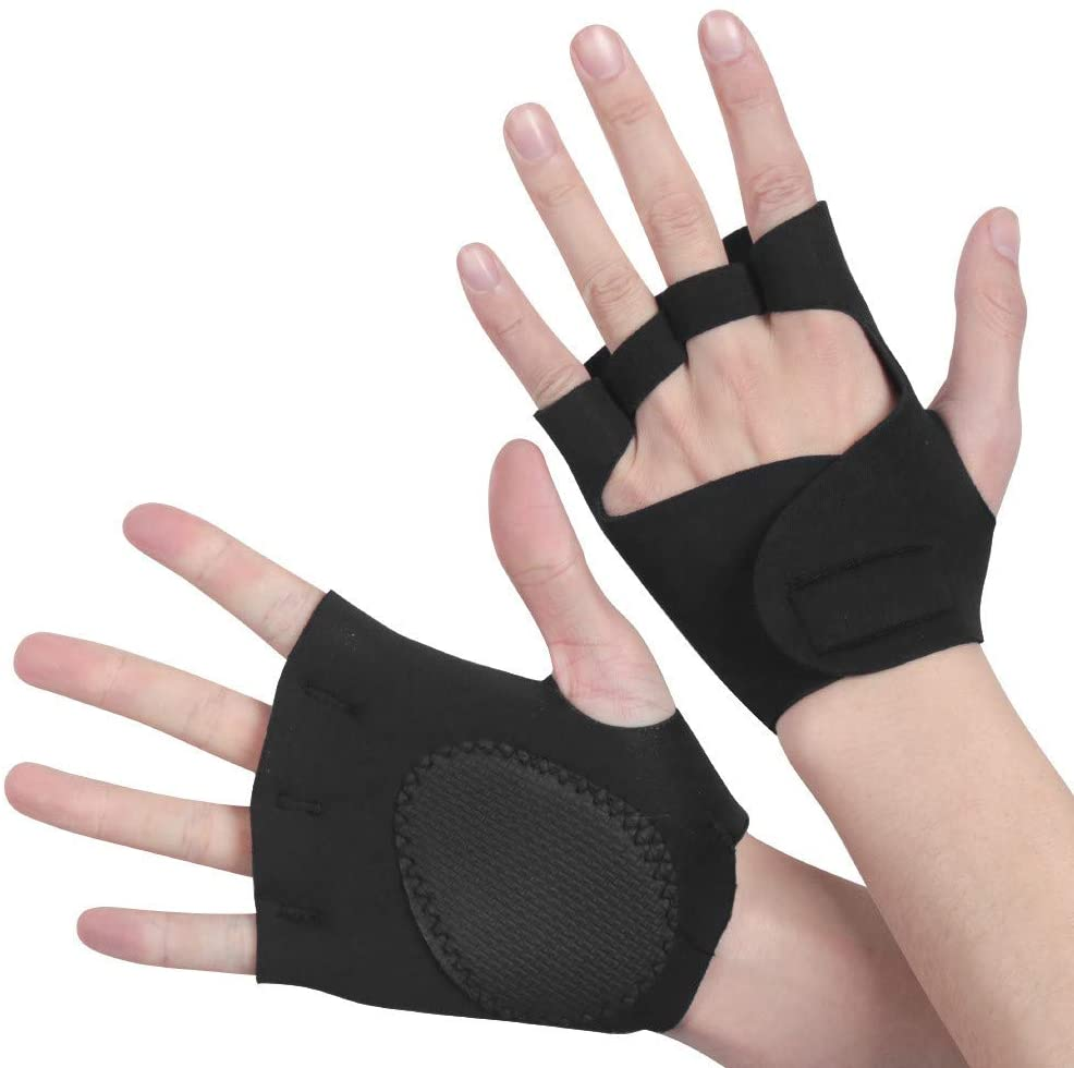 US-DXB Half-Finger Sports Gloves Shock Absorption, Non-Slip, Breathable, Neutral Soft Cushion Yoga Gloves, Non-Slip air Cushion, Suitable for Yoga, Outdoor Cycling and Other Sports