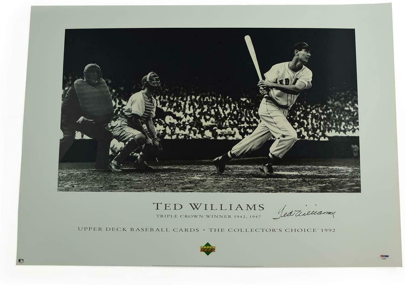 Ted Williams Boston Red Sox Autographed Litho Ap /200 - PSA/DNA Certified - Autographed MLB Art