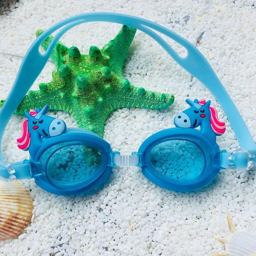 FENGG Kids Swimming Goggles - Fun Unicorn Style Swim Goggles for Children (Age 4-12) Leakproof Design, Shatterproof Anti-Fog 100% UV Protection Lens & Quick Adjustable Strap