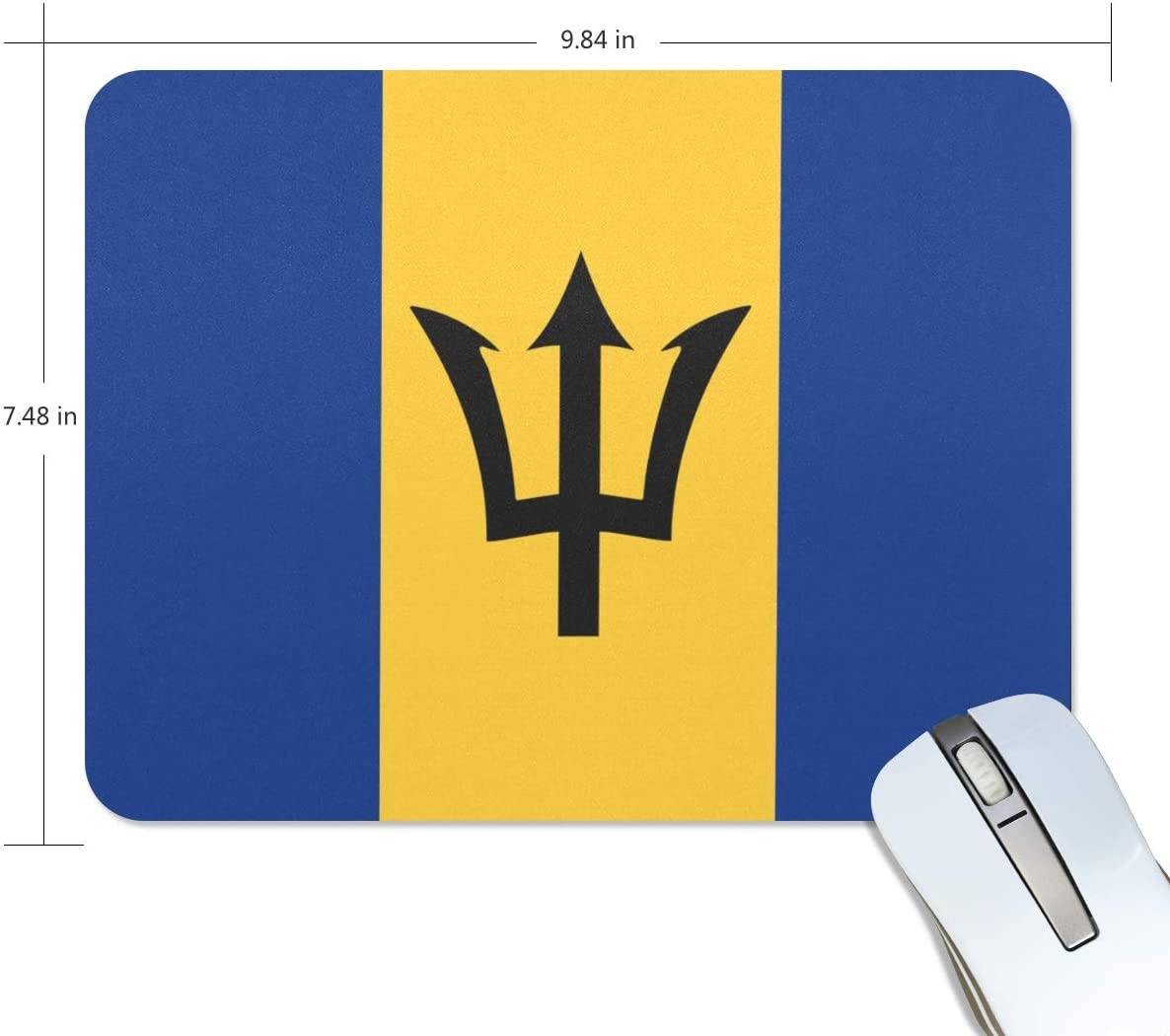 Chinein Comfortable Mouse Pad Barbados Flag