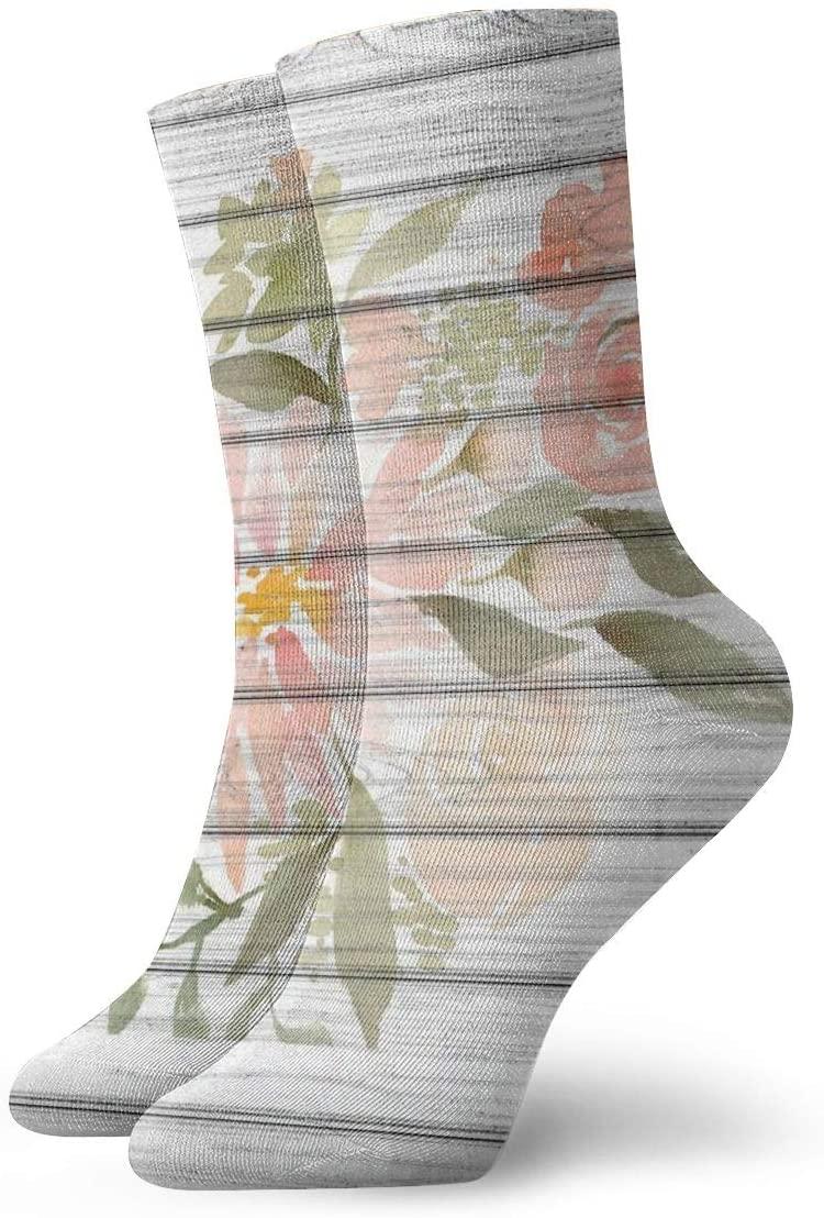 YUANSHAN Socks Watercolor Flowers Women & Men Socks Soccer Sock Sport Tube Stockings Length 11.8Inch