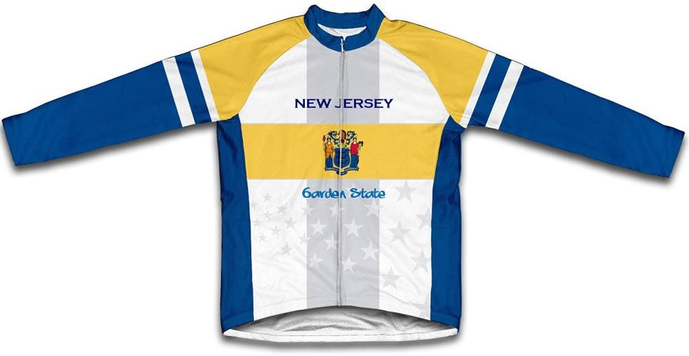 ScudoPro New Jersey Flag Winter Thermal Cycling Jersey for Men