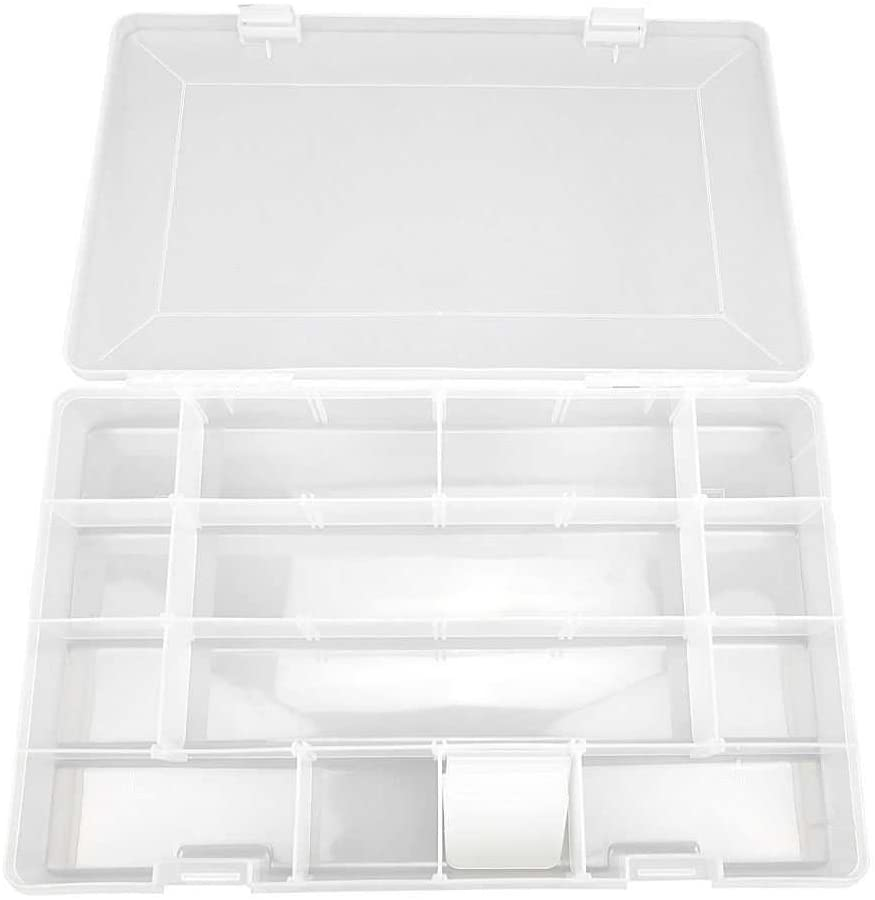 Clear Beads Tackle Box 309 Fishing Lure Jewelry Nail Art Small Parts Display Plastic transparent Case Storage Organizer Containers
