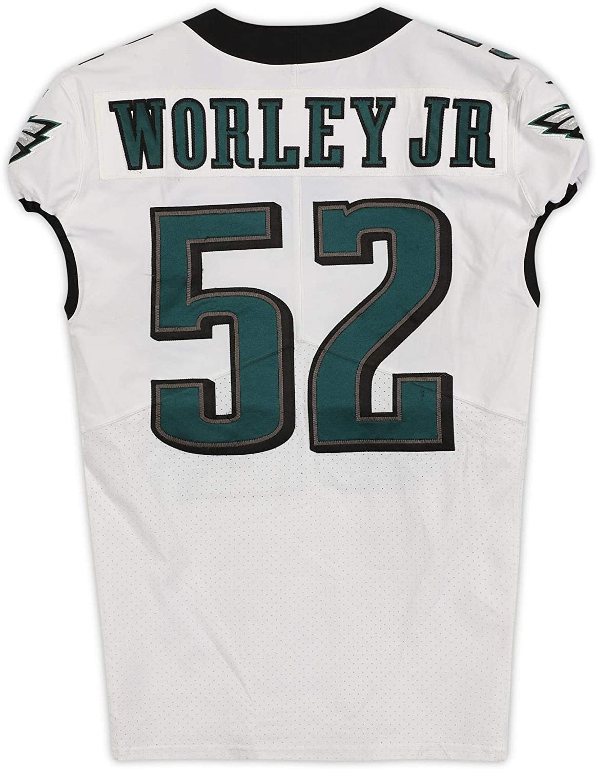Chris Worley Jr. Philadelphia Eagles Game-Used #52 White Jersey from the 2019-20 NFL Preseason - Size 42+4 - Fanatics Authentic Certified