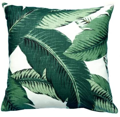 Throw Pillow Covers, Outdoor Pillows, Decorative Tommy Bahama Fabric, Swaying Palms, Outdoor Throw Pillows - One 18 x 18 Throw Pillow Cover